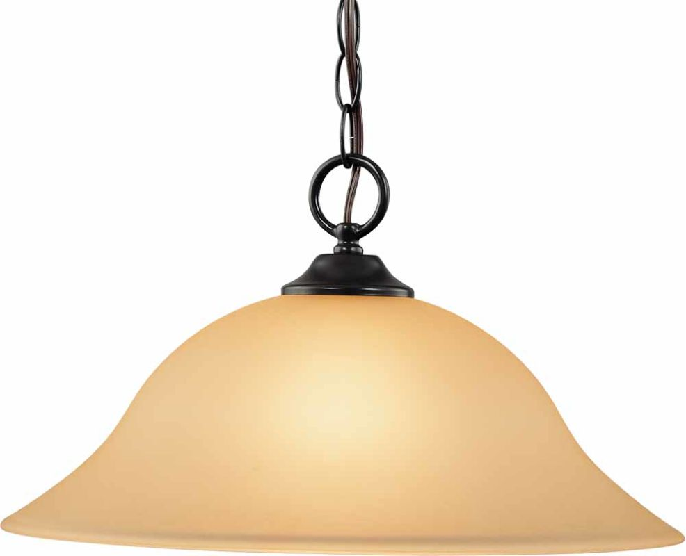 Volume Lighting V1869 Bernice 1 Light Down Light Pendant with Sepia