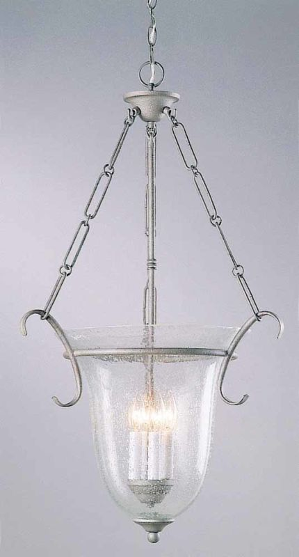 "Volume Lighting V1934 4 Light Foyer 32.25"" Height Pendant with Clear"