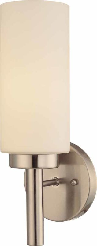 "Volume Lighting V2121 13.75"" Height Wall Sconce with 1 Light and White"