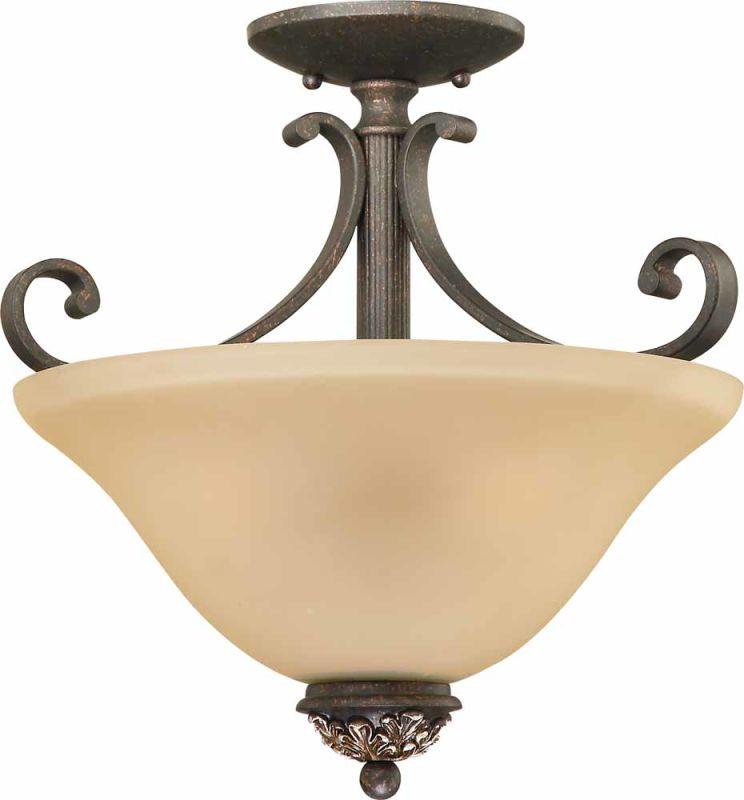 Volume Lighting V2213 Bristol 3 Light Semi-Flush Ceiling Fixture