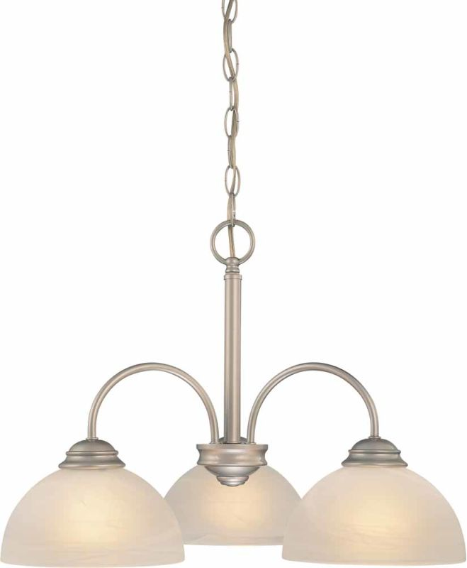 Volume Lighting V2273 Bernice 3 Light 1 Tier Chandelier Nickel Indoor Sale $89.50 ITEM: bci2148602 ID#:V2273-62 :