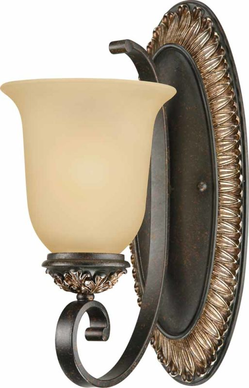 Volume Lighting V2291 Bristol 1 Light Bathroom Sconce Vintage Bronze