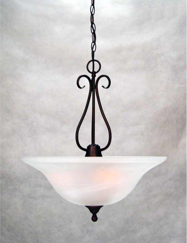 """Volume Lighting V2343 Minster 3 Light Foyer 21.5"""" Height Pendant with"""