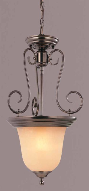 "Volume Lighting V2383 Troy 1 Light Bowl Shaped 23"" Height Pendant with"