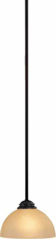 """Volume Lighting V2411 Bernice 1 Light Down Light 6"""" Height Pendant"""