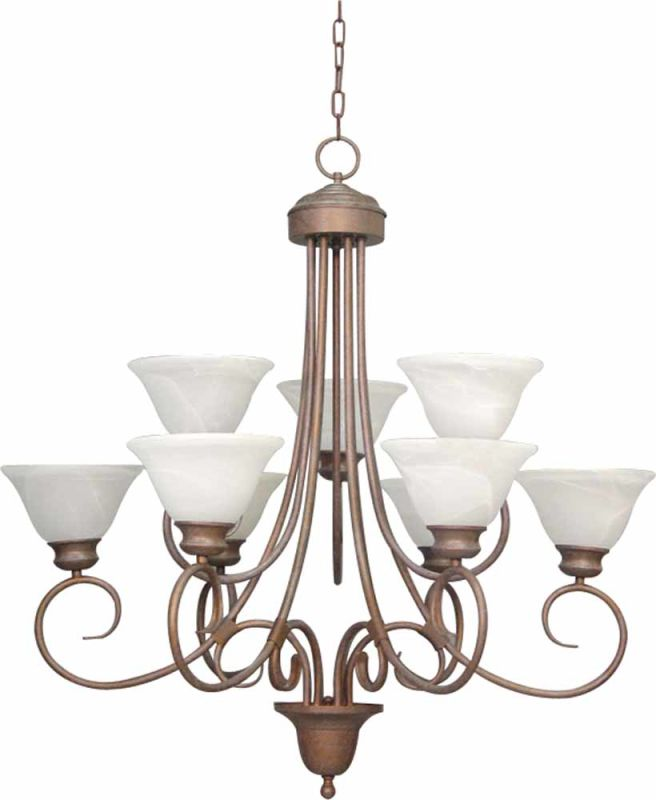 Volume Lighting V2539 Troy 9 Light 2 Tier Chandelier with Alabaster Sale $448.50 ITEM: bci2148708 ID#:V2539-22 :