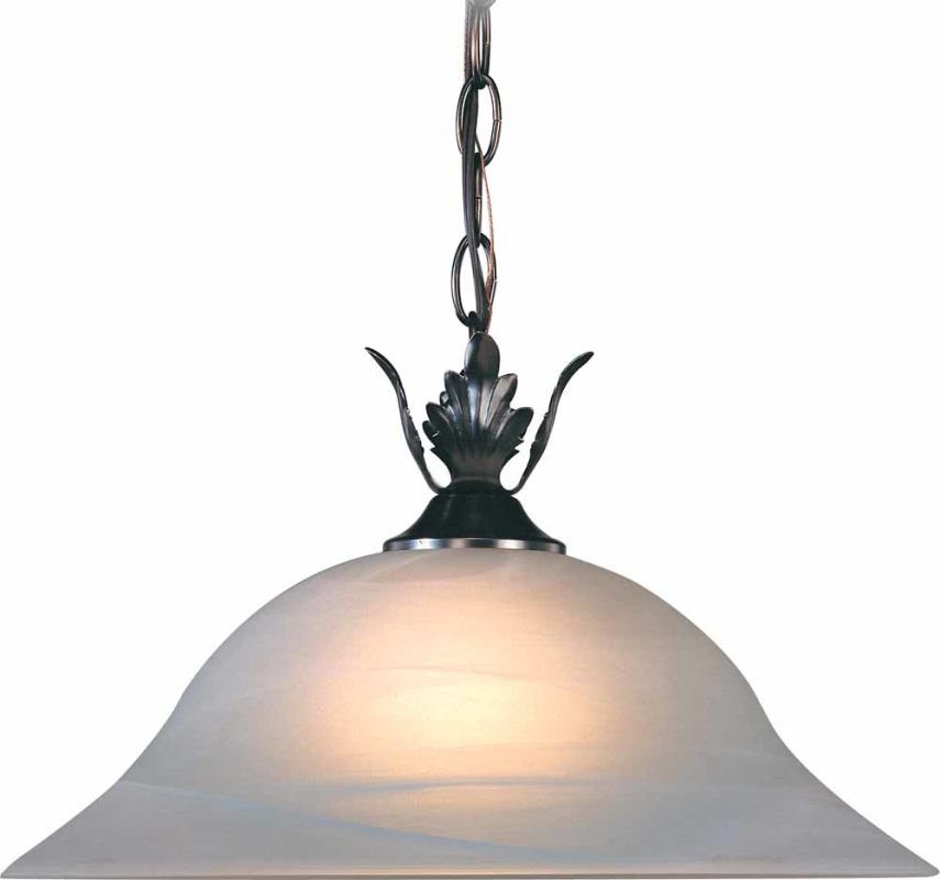 "Volume Lighting V2580 Troy 1 Light Down Light 9"" Height Pendant with"
