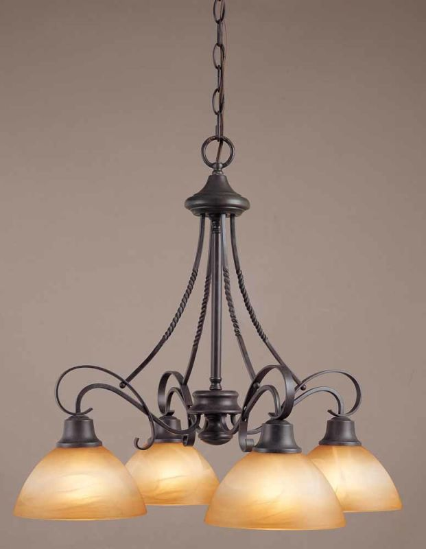 Volume Lighting V2644 Altamonte 4 Light 1 Tier Chandelier Frontier