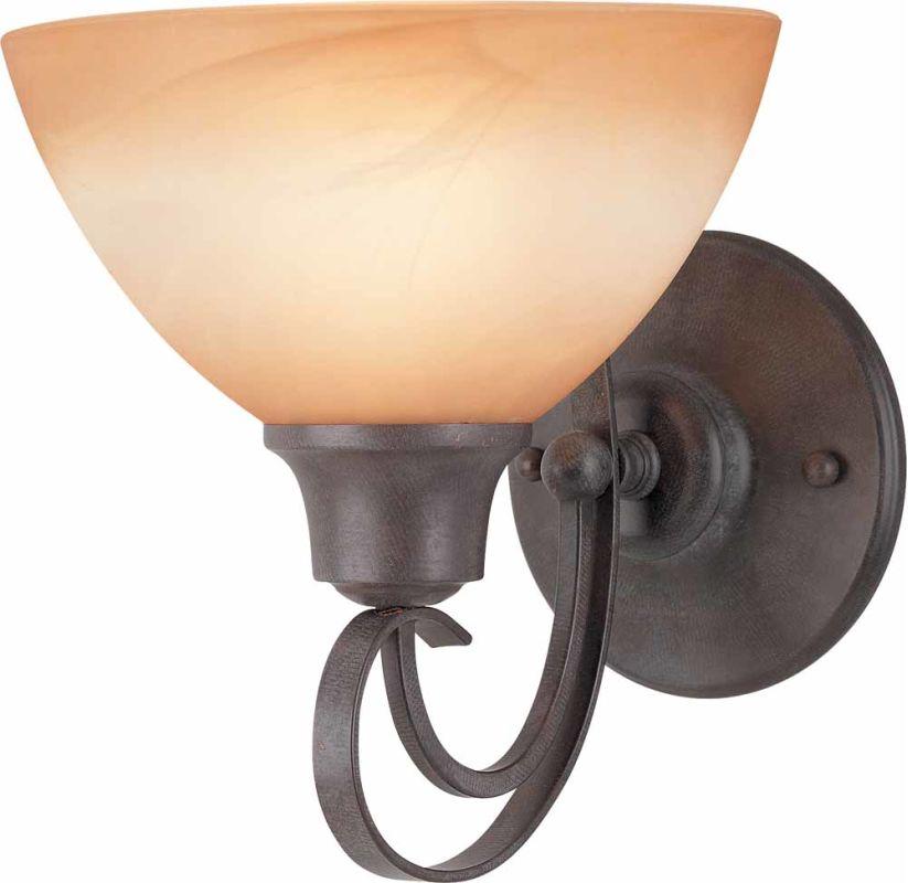 Volume Lighting V2661 Altamonte 1 Light Bathroom Sconce Frontier Iron