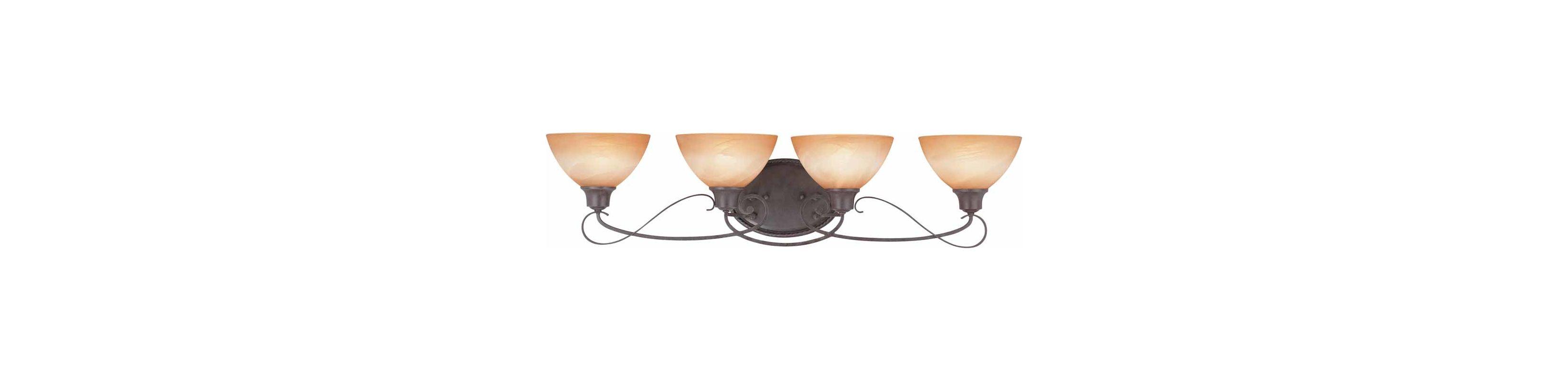 """Volume Lighting V2664 Altamonte 4 Light 35.5"""" Width Bathroom Vanity"""