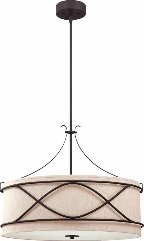 Volume Lighting V3134 Giovanni 4 Light Down Light Pendant Antique