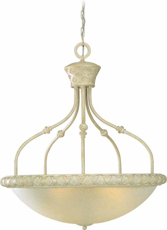 Volume Lighting V3404 Alexandria 4 Light Bowl Shaped Pendant Golden