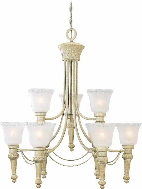Volume Lighting V3419 Alexandria 9 Light 2 Tier Chandelier with Etched Sale $174.60 ITEM: bci2148906 ID#:V3419-71 :