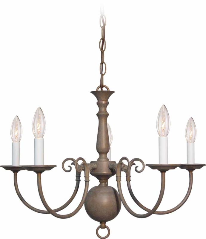 "Volume Lighting V3565 5 Light 16.75"" Height 1 Tier Chandelier Prairie"