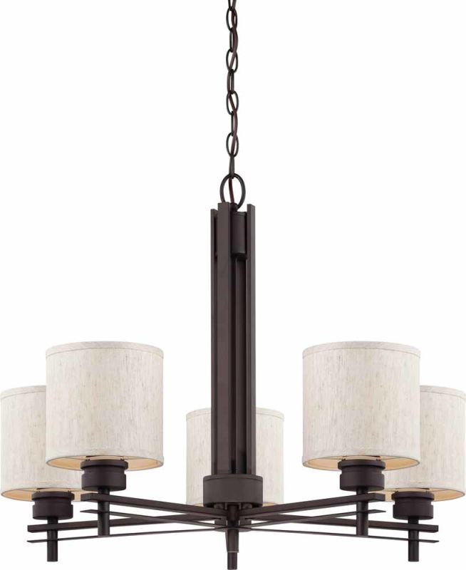 Volume Lighting V3775 V0018-40 Carena 5 Light 1 Tier Chandelier with
