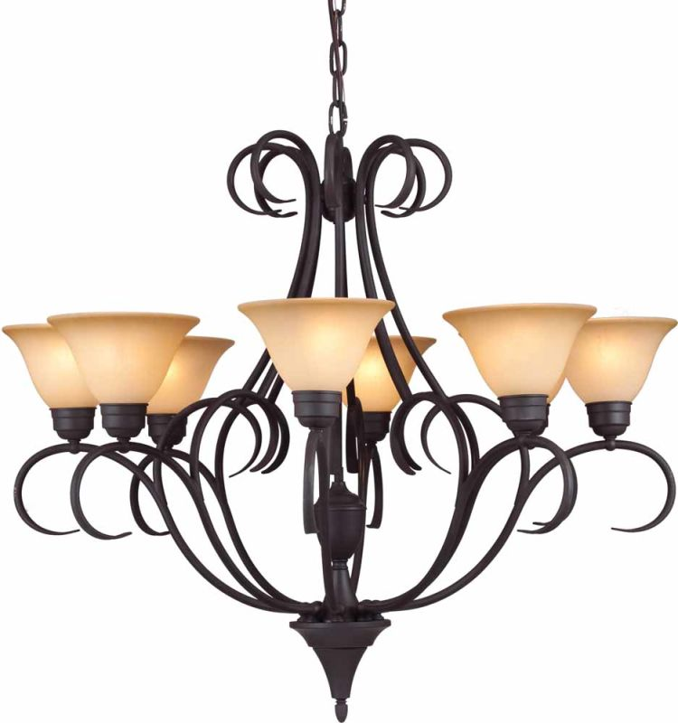 Volume Lighting V3888 Windsor 8 Light 1 Tier Chandelier Antique Bronze Sale $765.00 ITEM: bci2148992 ID#:V3888-79 :