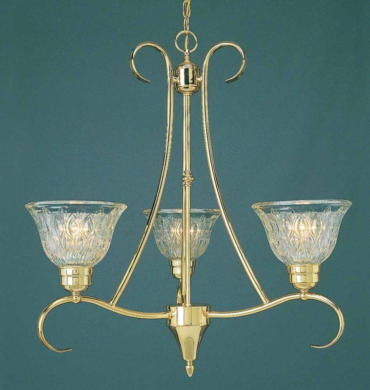 Volume Lighting V3993 Versailles 3 Light 1 Tier Chandelier Polished