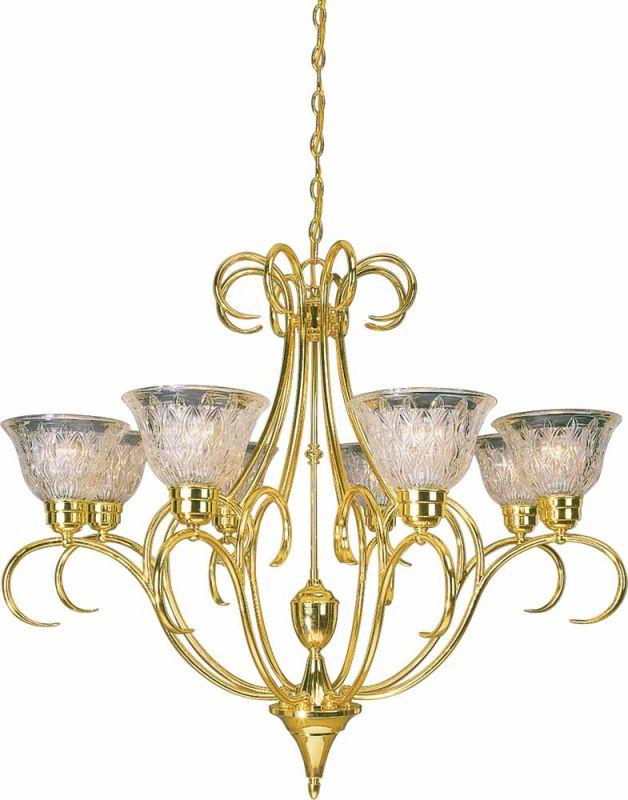 Volume Lighting V3998 Versailles 8 Light 1 Tier Chandelier Polished