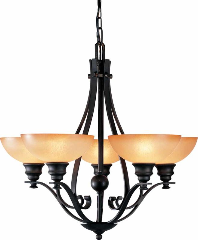 Volume Lighting V4125 Rainier 5 Light 1 Tier Chandelier Foundry Bronze Sale $355.00 ITEM: bci2149012 ID#:V4125-65 :