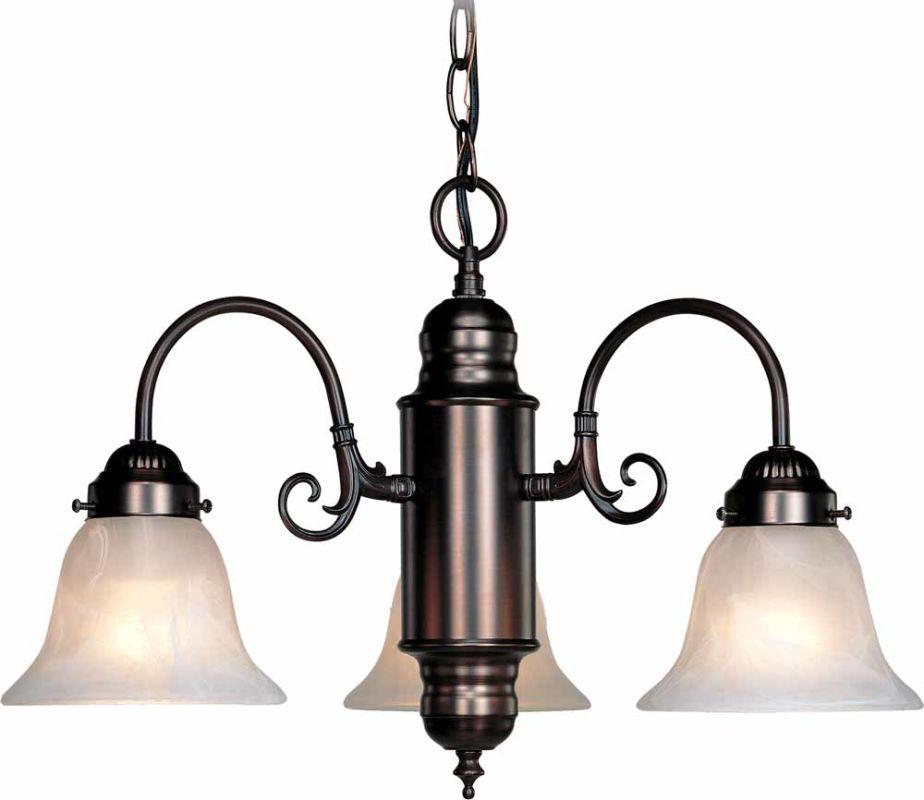"Volume Lighting V4323 Marti 3 Light 14"" Height 1 Tier Chandelier"