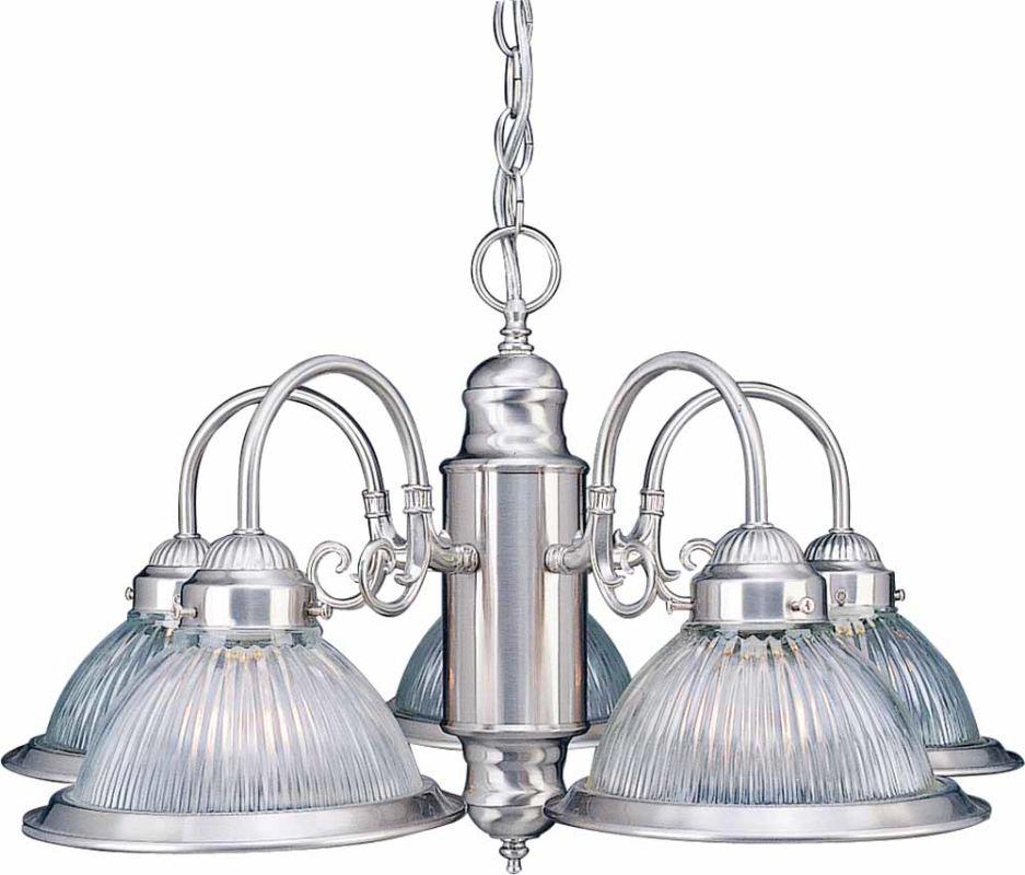 """Volume Lighting V4715 Roth 5 Light 14"""" Height 1 Tier Chandelier"""
