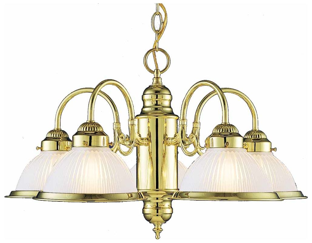 "Volume Lighting V4725 Roth 5 Light 14"" Height 1 Tier Chandelier with"
