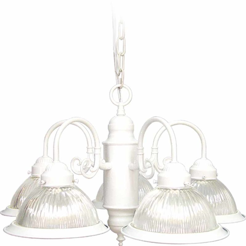 "Volume Lighting V4745 Roth 5 Light 14"" Height 1 Tier Chandelier with"