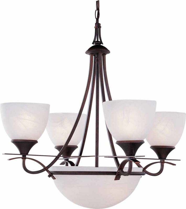 Volume Lighting V4836 Durango 6 Light Single Tier Chandelier Italian
