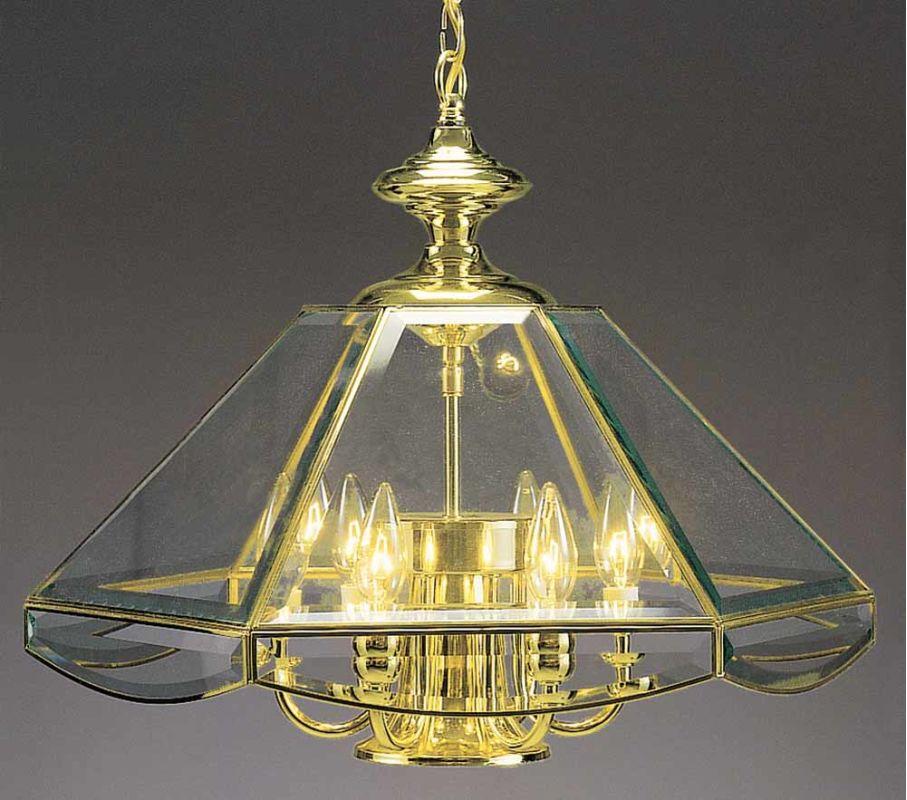 Volume Lighting V5026 7 Light 1 Tier Chandelier Polished Brass Indoor