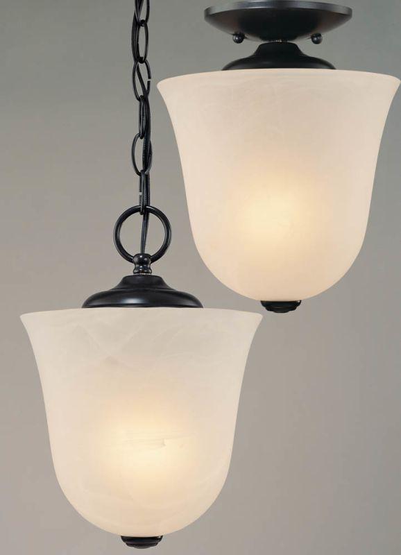 """Volume Lighting V5070 Bernice 1 Light Foyer 10.5"""" Height Pendant with"""