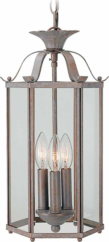 "Volume Lighting V5093 3 Light Foyer 16.25"" Height Pendant with Clear"