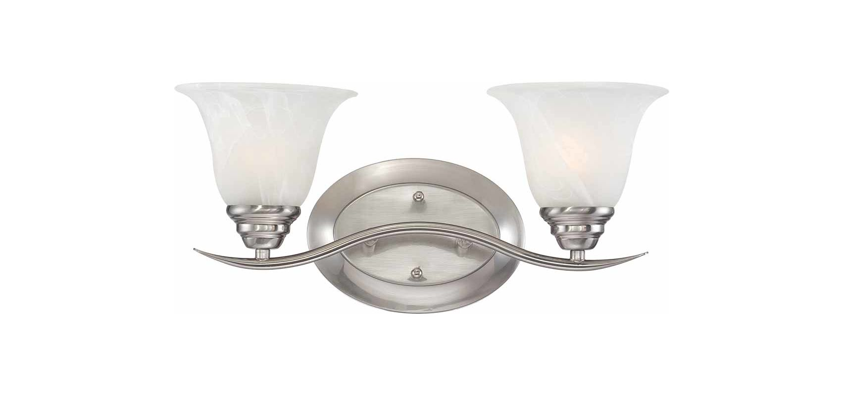 Volume Lighting V5232-33 Brushed Nickel Trinidad 2 Light 17.25