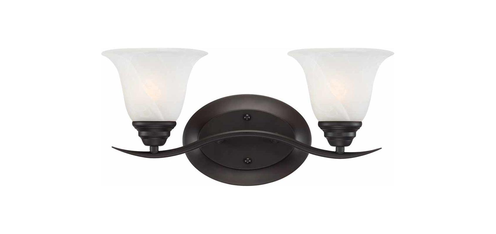 """Volume Lighting V5232 Trinidad 2 Light 17.25"""" Width Bathroom Vanity"""