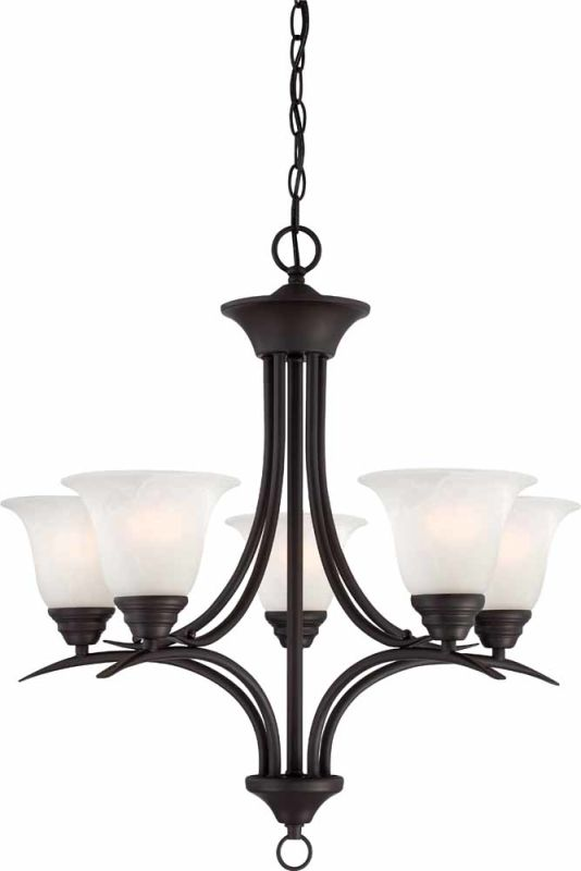 Volume Lighting V5245 Trinidad 5 Light 1 Tier Chandelier Antique