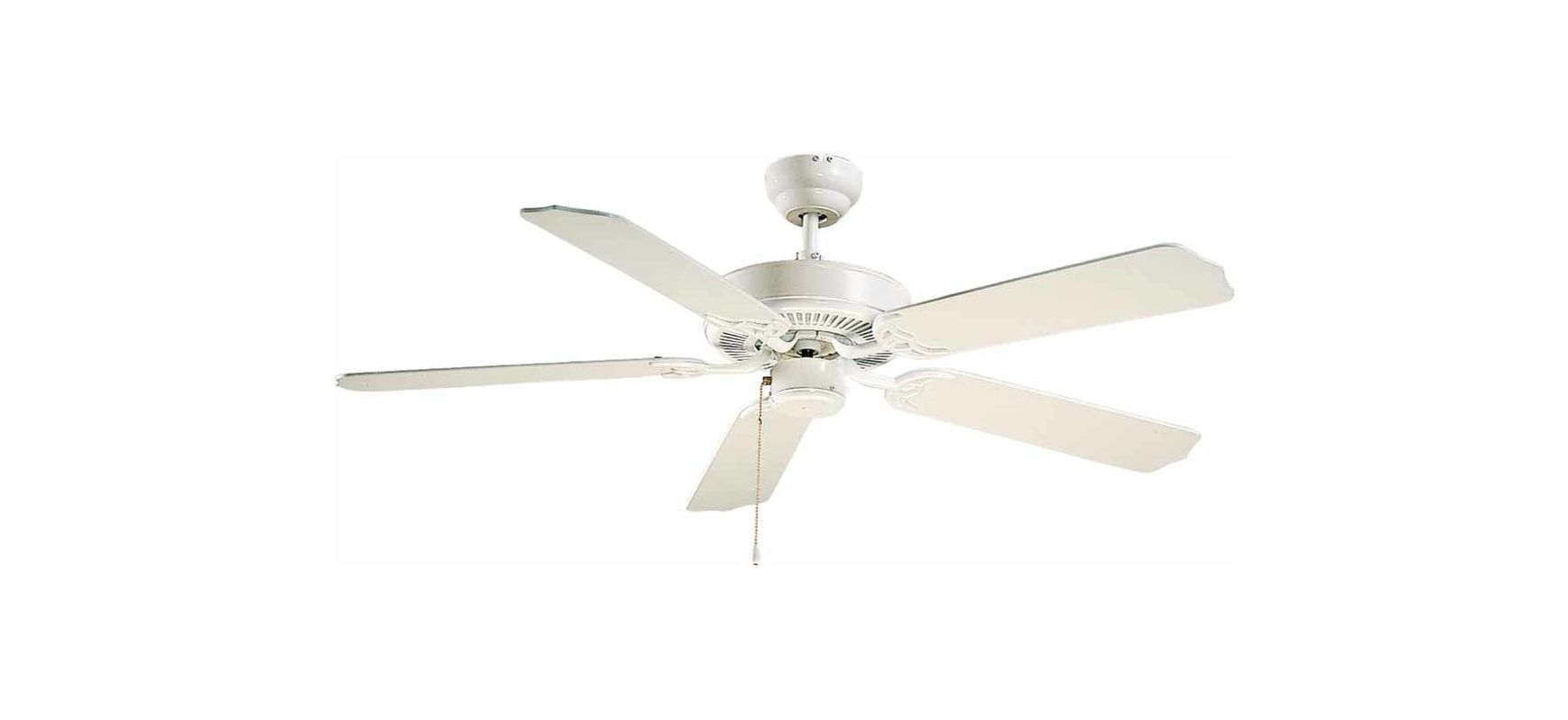 "Volume Lighting V5953 5 Blade 52"" Outdoor Ceiling Fan White Fans"