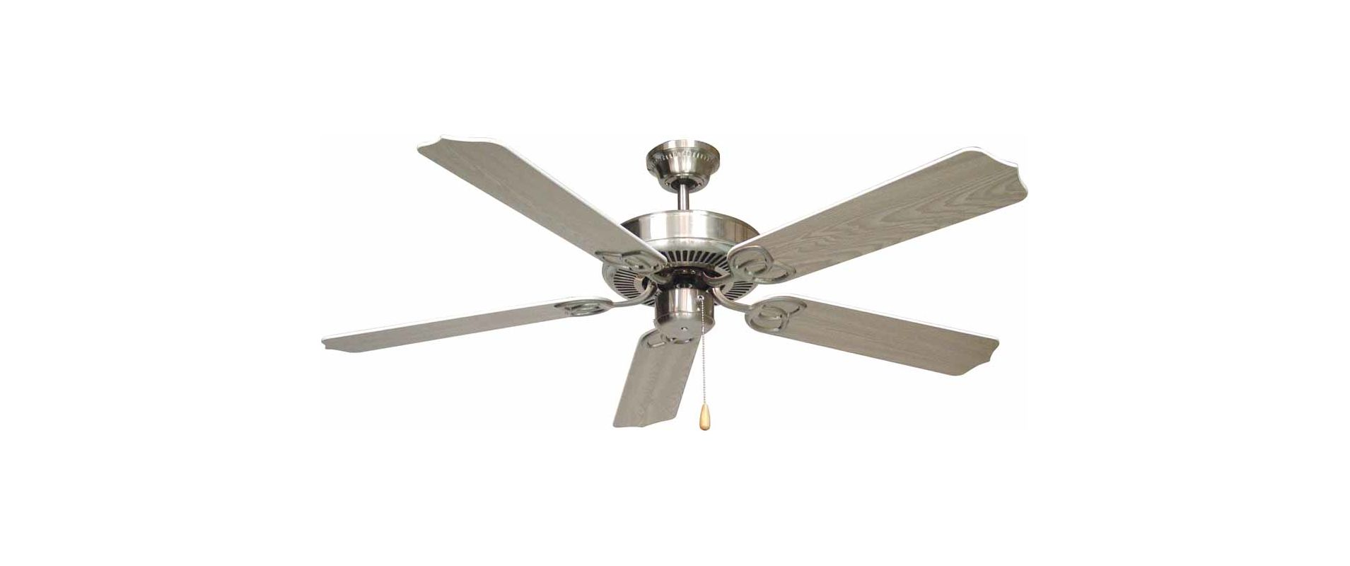 "Volume Lighting V5962 5 Blade 52"" Indoor Ceiling Fan with White /"