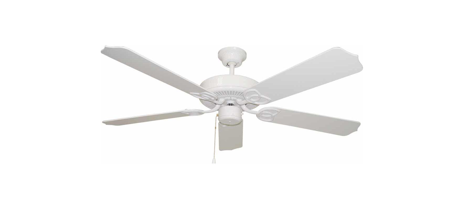 "Volume Lighting V5962 5 Blade 52"" Indoor Ceiling Fan with White /"
