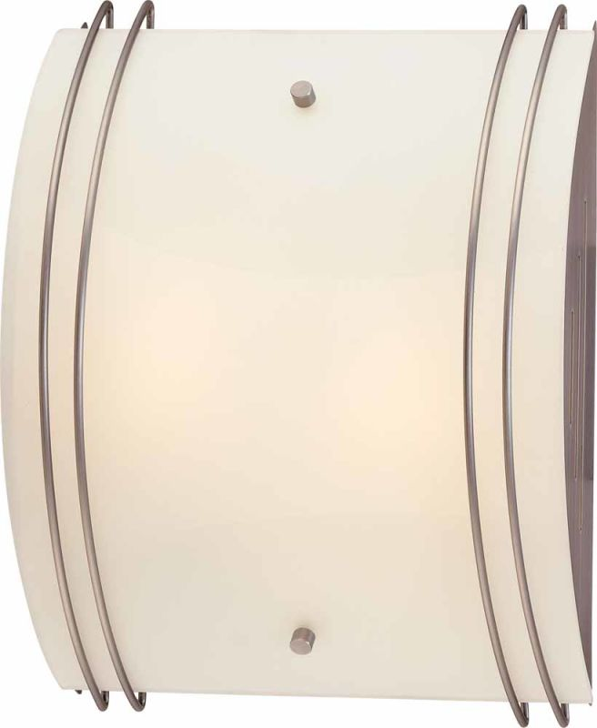 Volume Lighting V6025 Wall Sconce with 2 Lights and White Glass