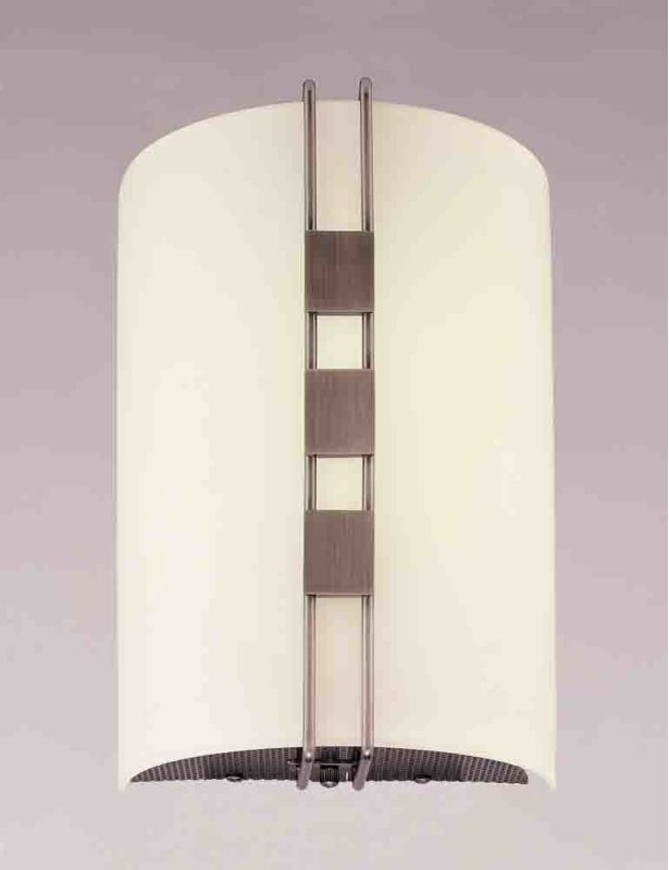 Volume Lighting V6069 Wall Sconce with 2 Lights and White Glass with