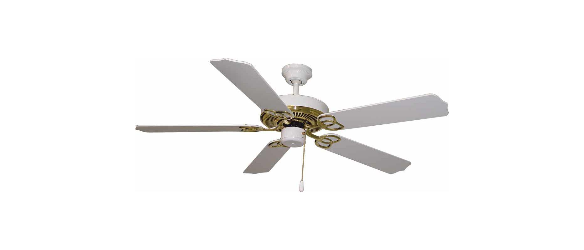 """Volume Lighting V6152 5 Blade 52"""" Indoor Ceiling Fan Polished Brass /"""