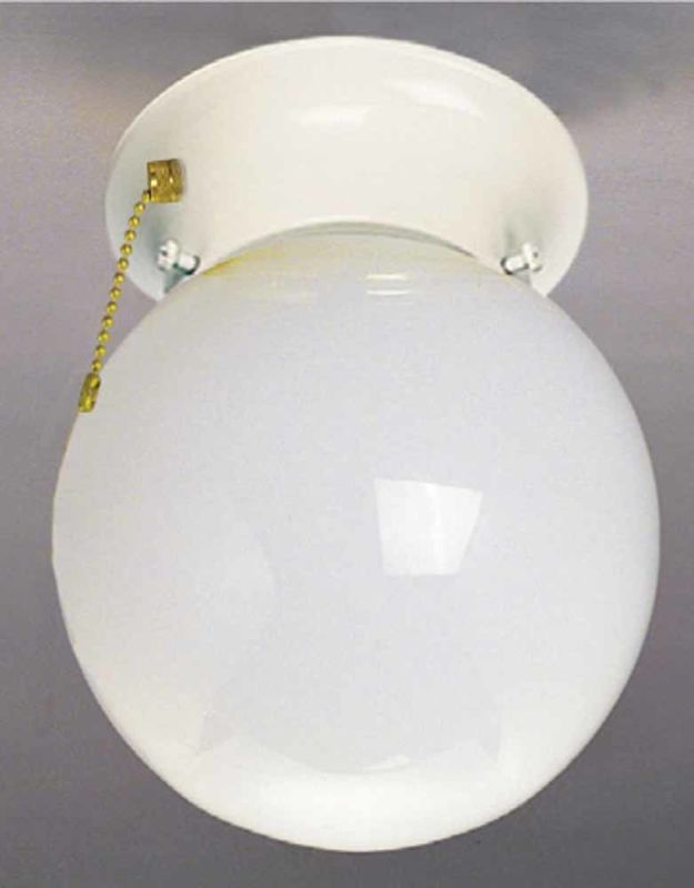"Volume Lighting V6308 1 Light 7.75"" Height Semi-Flush Ceiling Fixture"