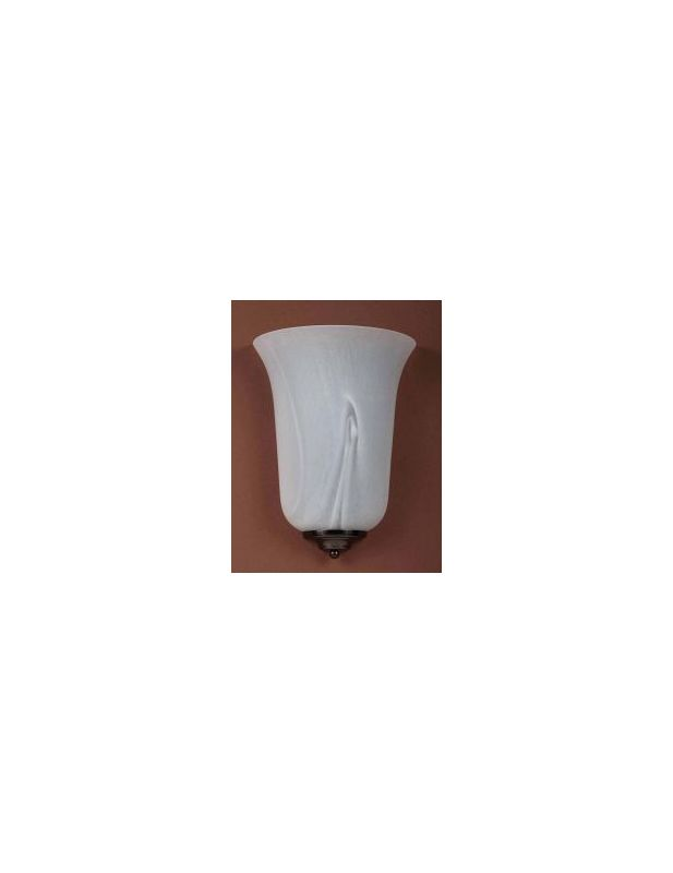 "Volume Lighting V6603 10.5"" Height Wall Sconce with 1 Light and White"