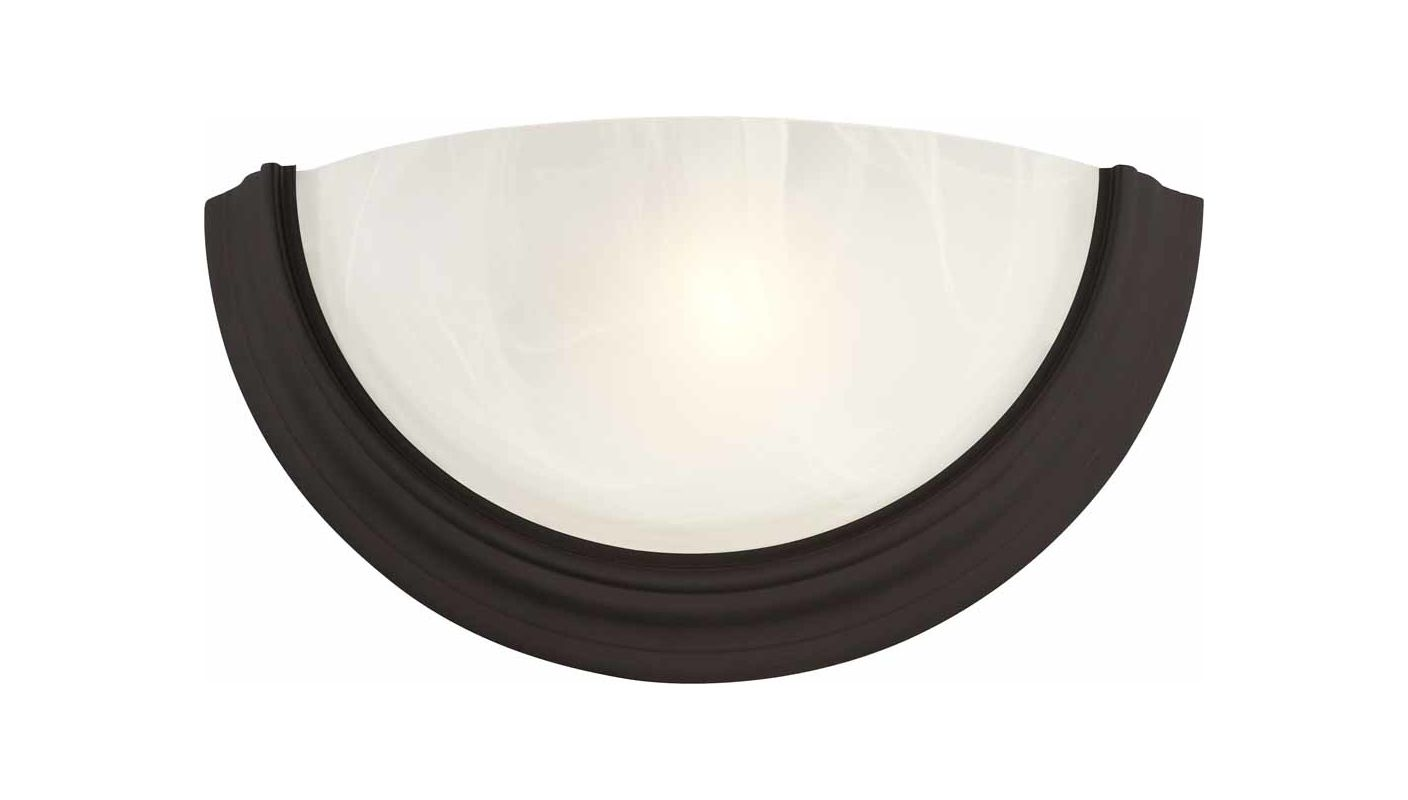 Volume Lighting V6613 Lunar Wall Sconce with 1 Light and White