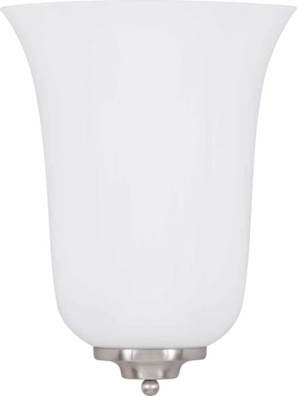 """Volume Lighting V6622 10.5"""" Height Wall Sconce with 2 Lights and White"""