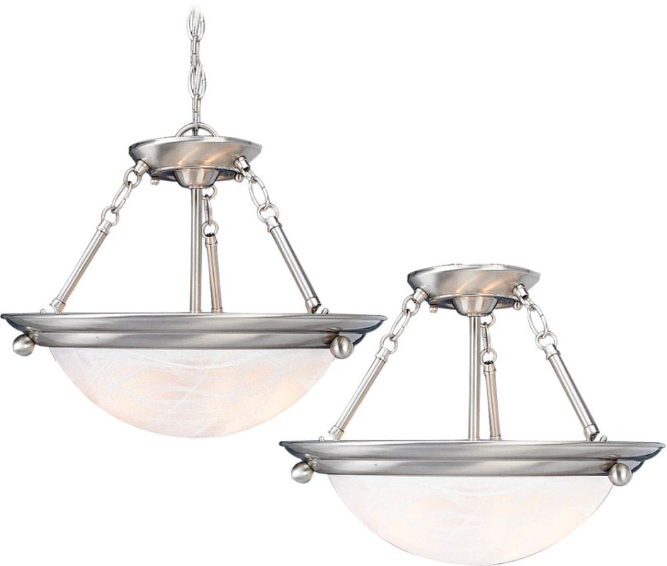 Volume Lighting V6674 Lunar 4 Light Semi-Flush Ceiling Fixture Brushed