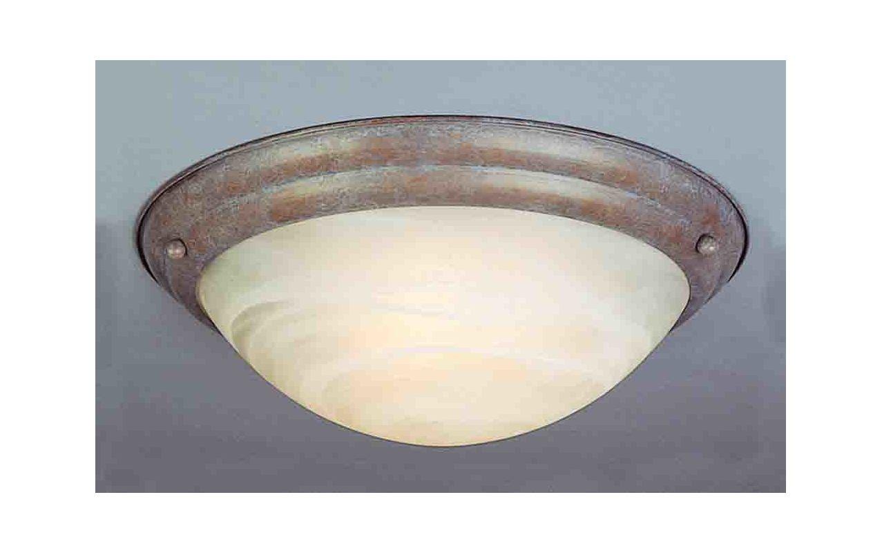 """Volume Lighting V6852 Lunar 2 Light 15.5"""" Width Flush Mount Ceiling"""