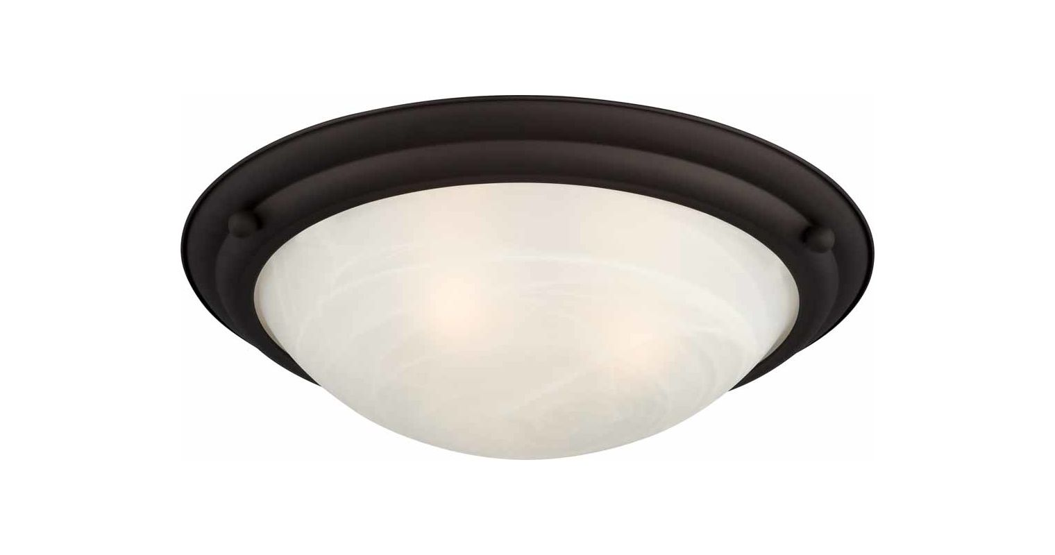 "Volume Lighting V6853 Lunar 3 Light 21.5"" Width Flush Mount Ceiling"