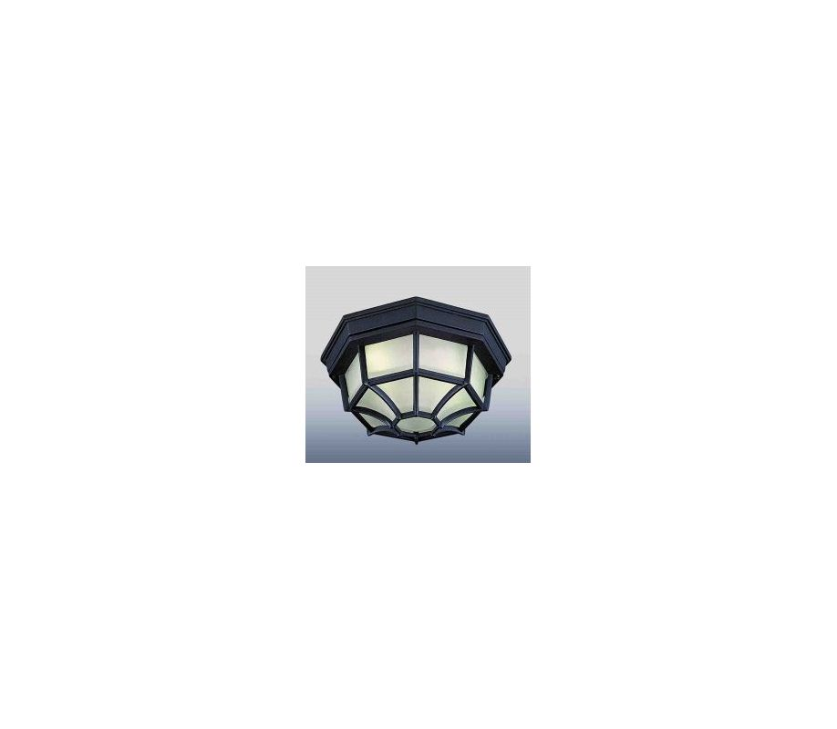 Volume Lighting V6944 Energy Saving Outdoor 1 Light Flush Mount