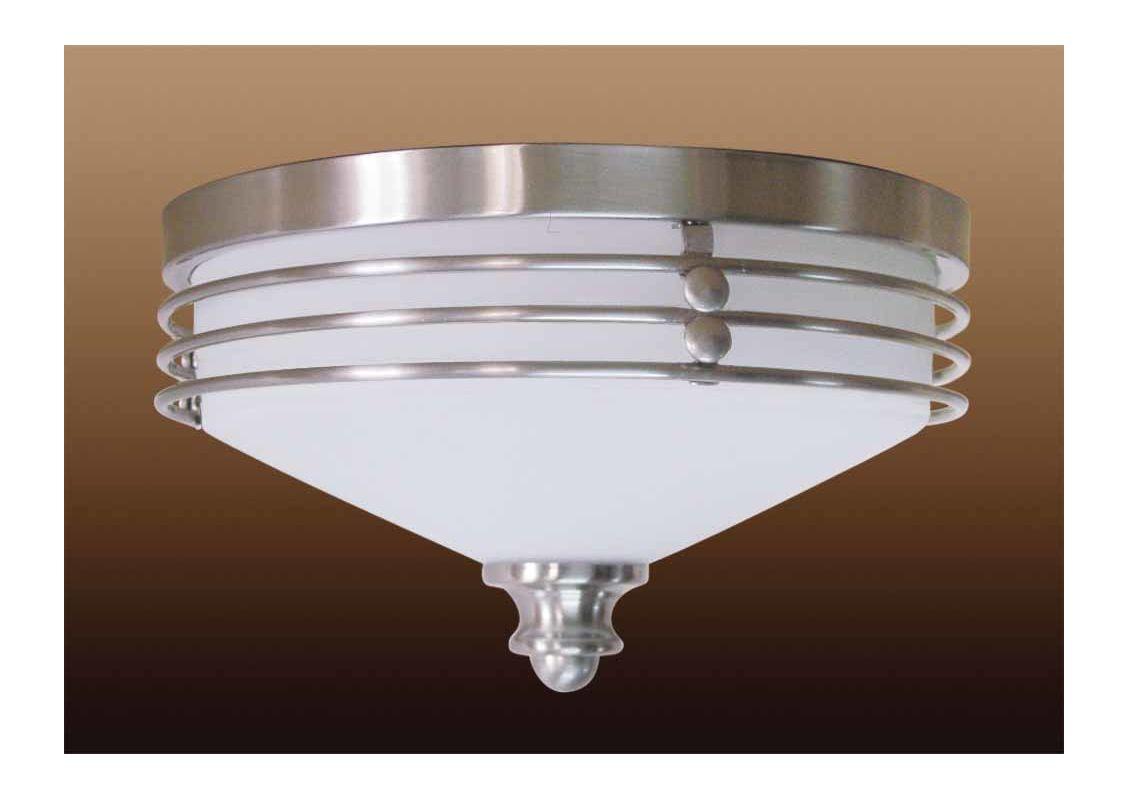 Avila Wall Light With Glass Shade : Volume Lighting V6952-33 Brushed Nickel Avila 2 Light Flush Mount Ceiling Fixture with White ...