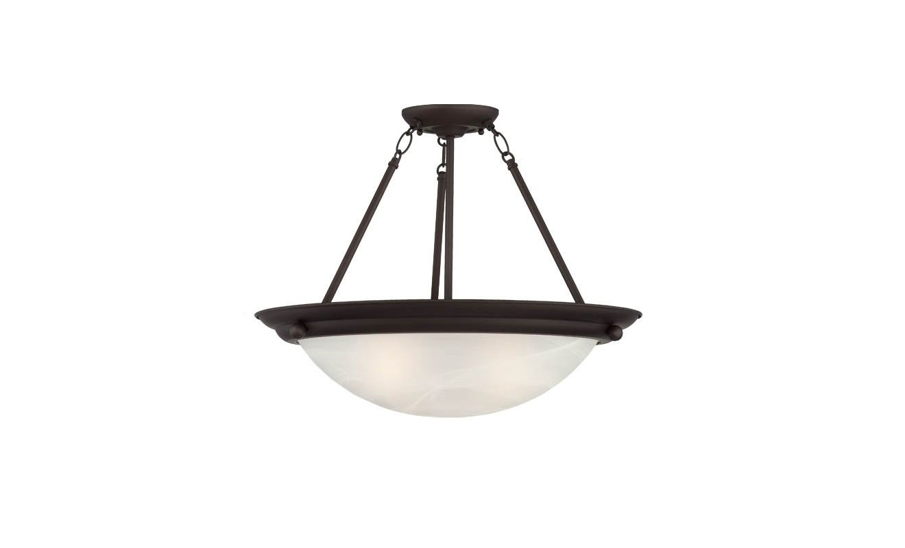 "Volume Lighting V6972 Lunar 2 Light 13.25"" Height Semi-Flush Ceiling"